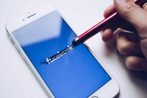 Facebook social media screen