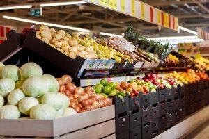 produce aisle discounter store O'key Group Russia