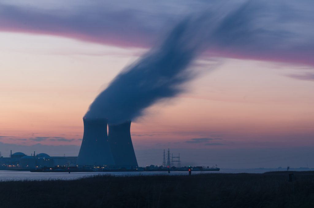 nuclear power plant generating green energy